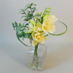 Artificial Flower Arrangement Lemon Freesias - FRE002