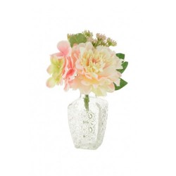 Artificial Flower Arrangement Pink Peonies and Hydrangeas - PEO005 3C