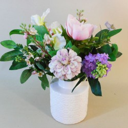 Artificial Flower Arrangements Pink and Purple Garden Flowers - WIL001 1C