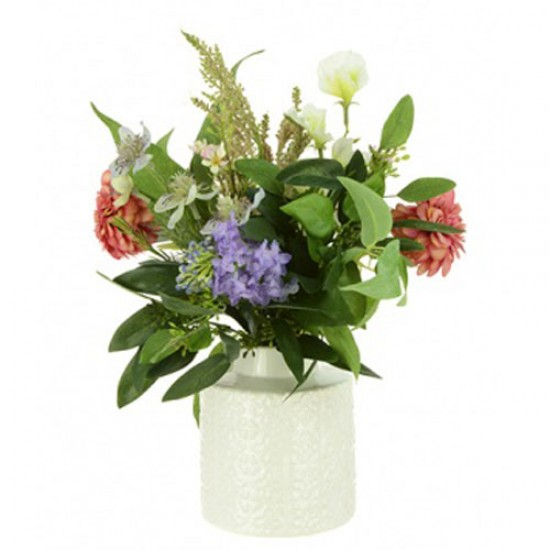 Artificial Flower Arrangements Pink and Purple Garden Flowers - WIL002 3D