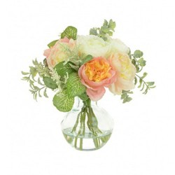 Artificial Flower Arrangement | Pink and Peach Ranunculus - RAV007 5B
