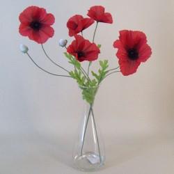 Artificial Flower Arrangements | Red Poppies - POP001 6E