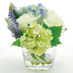 Rose Muscari and Hydrangea Artificial Flower Arrangement - RHM001