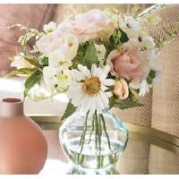 Artificial Flower Arrangement | Pink Roses Hydrangeas and Daisies - RHV018