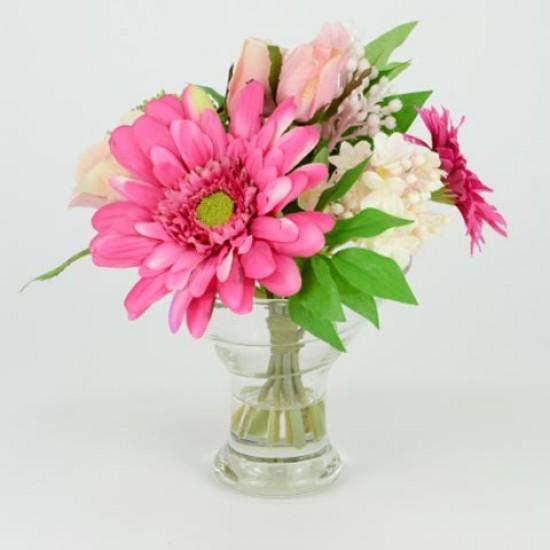 Artificial Flower Arrangement Spring Mix Pink - SPR004 5B