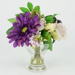 Artificial Flower Arrangement Spring Mix Purple - SPR006 5C