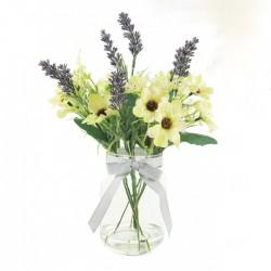 Daisies and Lavender | Artificial Flowers Arrangement - DAI007 7B