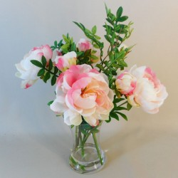 Artificial Flower Arrangement | Pink Peonies Vase - PEO003 7D