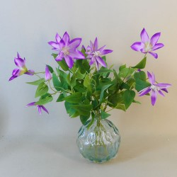Artificial Flower Arrangement Purple Clematis - CLE001 1A