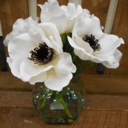 White Anemones Vase   Silk Flower Arrangements - ANE004 3D