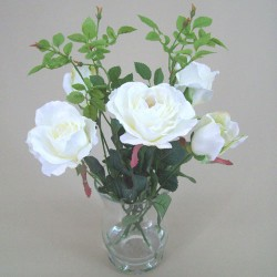 Ivory Roses Artificial Flower Arrangement - ROS005 6B