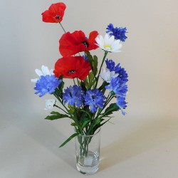 Meadow Poppies Silk Flower Arrangement - MED004 6D