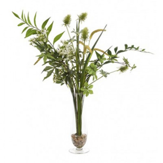 Artificial Flower Arrangement | Assorted Greenery - GRE001 4C