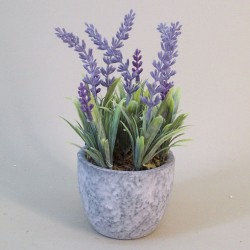 Artificial Plants Potted Lavender in Grey Pot - LAV012 1D