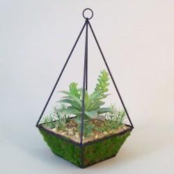 Artificial Succulents Terrarium Green - SUC006 3A