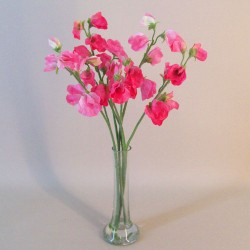 Artificial Sweet Peas Vase Arrangement Pink - SPV008 6D