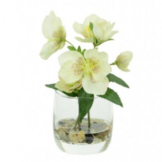 Artificial Flower Arrangements | Hellebores Cream and Pink - 16X135 7A
