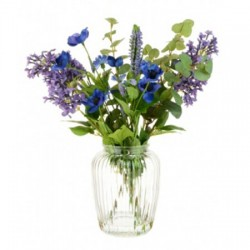 Artificial Flower Arrangements Cottage Garden Blue and Purple Flowers - LIL007 3E & 7C