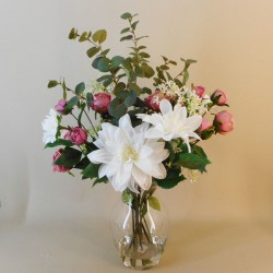 Dahlias and Roses Artificial Flower Arrangement - DAH003