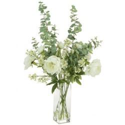 Elegant White Peonies Vase | Artificial Flower Arrangements - PEO008