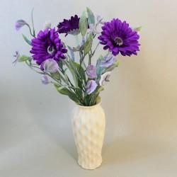 Artificial Flower Arrangements   Gerberas and Sweet Peas - GER004 3A
