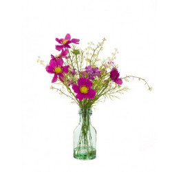 Artificial Flower Arrangements | Mauve Pink Cosmos and Wild Flowers - COS003 2C
