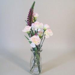 Artificial Flower Arrangements | Pink Carnations and Pink Veronica - CAV003 1B