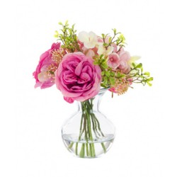 Pink Roses and Hydrangeas Artificial Flower Arrangement - ROS016