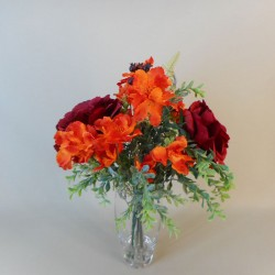 Autumn Artificial Flower Arrangements | Roses and Wild Flowers - ROS084 1C