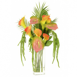 Statement Artificial Flower Arrangements | Calla Lilies and Anthuriums Multi  - CLV016