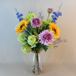Luxury Artificial Flower Arrangement | Sunflowers and Garden Flowers - SUN001 4B