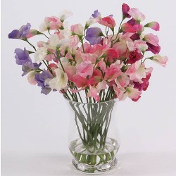 Luxury Sweet Peas Silk Flower Arrangement - SPV005 6B