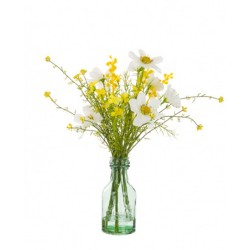 Artificial Flower Arrangements | White Cosmos and Wild Flowers - COS004