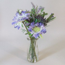 Artificial Flower Arrangement Blue Wild Flowers - WGV001 5C