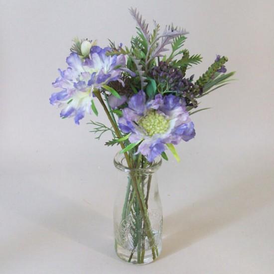 Artificial Flower Arrangement Blue Wild Flowers - WGV001 5C