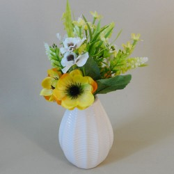 Artificial Flower Arrangements Yellow Anemones and Muscari - AV006 5C