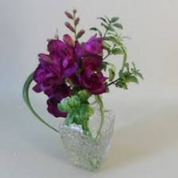 Artificial Flower Arrangement Magenta Freesias - FRE001 7C
