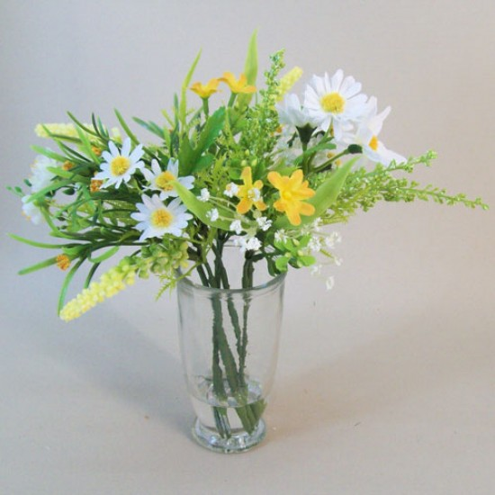 Artificial Flower Arrangements | White Daisies and Blossom - DAI004 5C