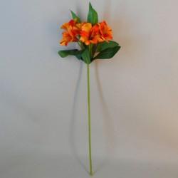 Artificial Alstroemeria Stem Orange 48cm  - A050