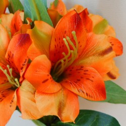 Artificial Alstroemeria Stem Orange 48cm  - A050 A2