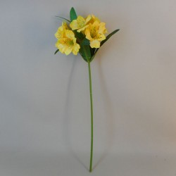 Artificial Alstroemeria Stem Yellow 48cm  - A053 A2