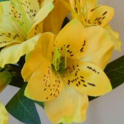 Artificial Alstroemeria Stem Yellow 48cm  - A053 A2