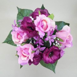 Anemone, Rosebud and Starflower Posy Pink - A017 A2