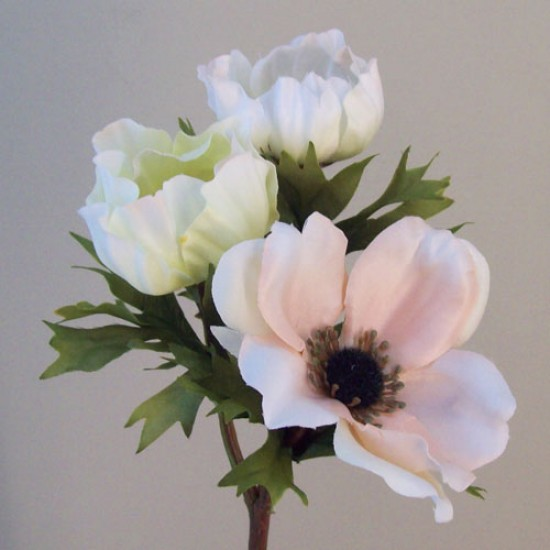 Artificial Anemones Blush Peach - A110