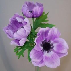 Artificial Anemones Lilac Purple - A093 B2