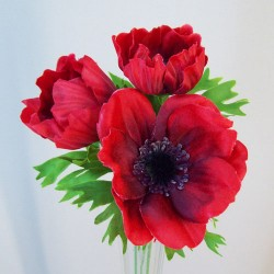 Artificial Anemones Red - A094