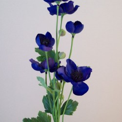 Artificial Japanese Anemones Dark Blue - A096 A2