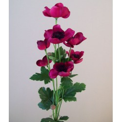 Artificial Japanese Anemones Magenta Pink - A095 A2