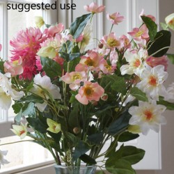 Artificial Japanese Anemones Pale Pink - A119 B2