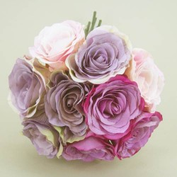 Antique Roses Bouquet Pink and Lilac - R028a N3